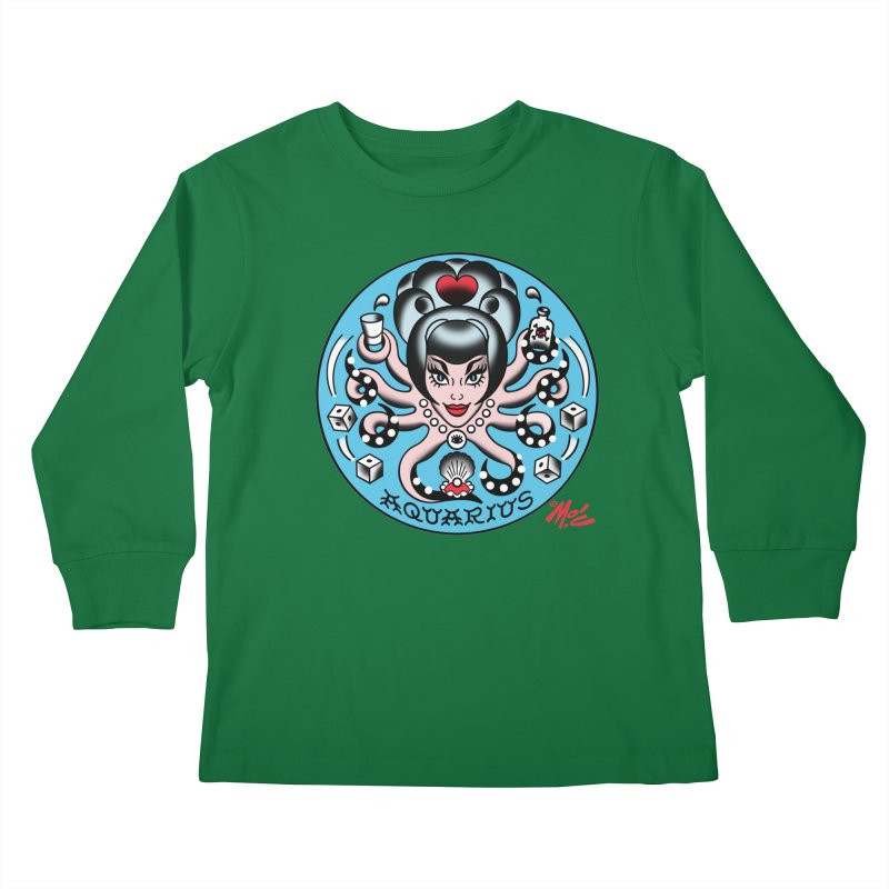 AQUARIUS! Kids Longsleeve T-Shirt by Mitch O'Connell