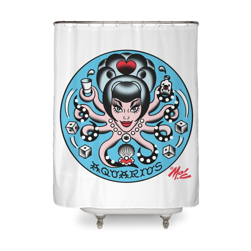 AQUARIUS! Home Shower Curtain by Mitch O'Connell