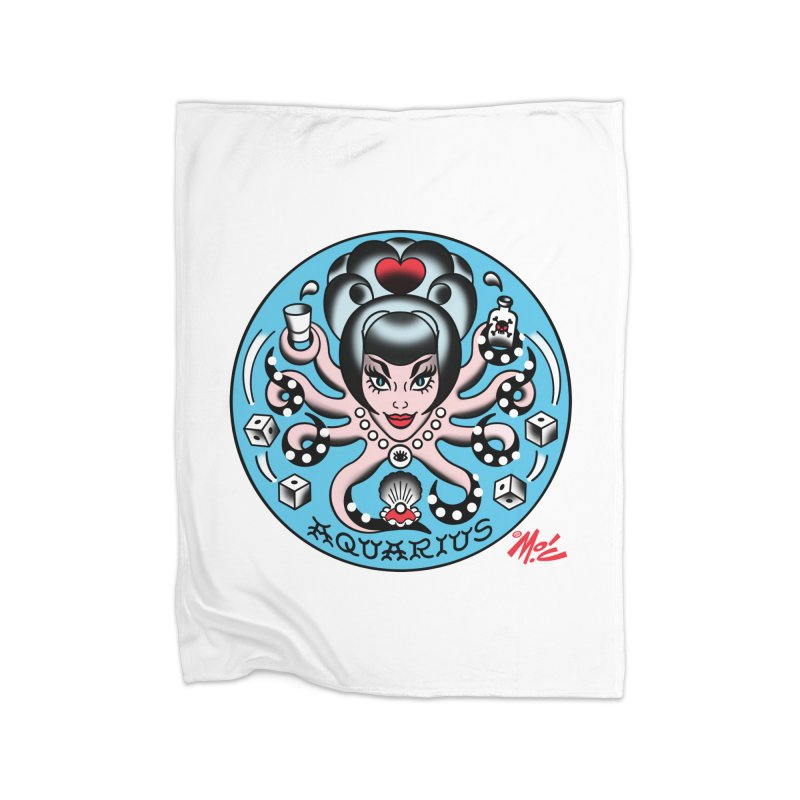 AQUARIUS! Home Blanket by Mitch O'Connell
