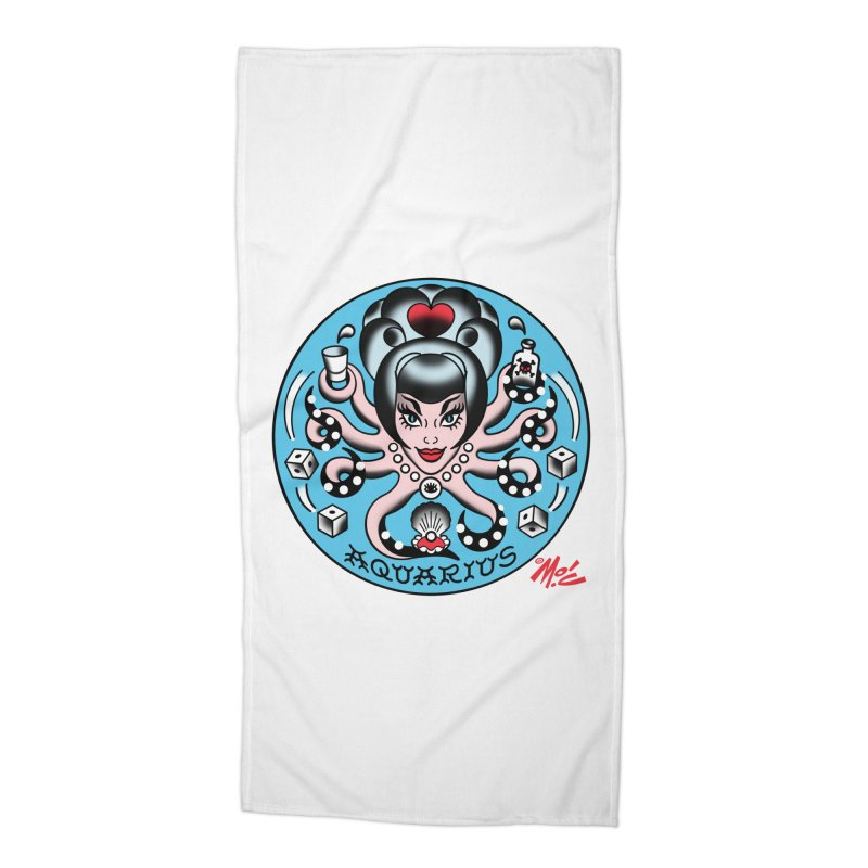 AQUARIUS! Accessories Beach Towel by Mitch O'Connell