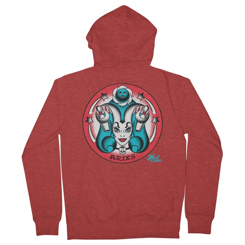 ARIES! Women's Zip-Up Hoody by Mitch O'Connell