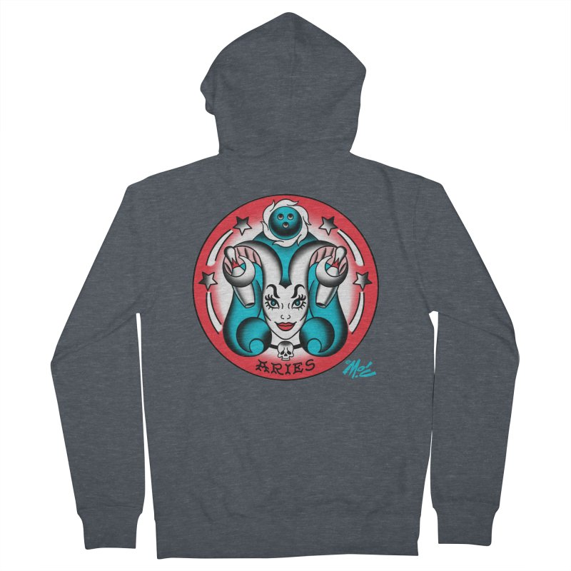 ARIES! Men's Zip-Up Hoody by Mitch O'Connell