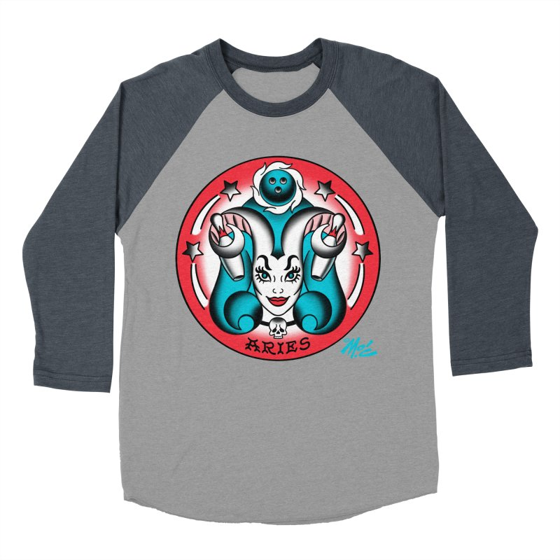 ARIES! Men's Baseball Triblend T-Shirt by Mitch O'Connell