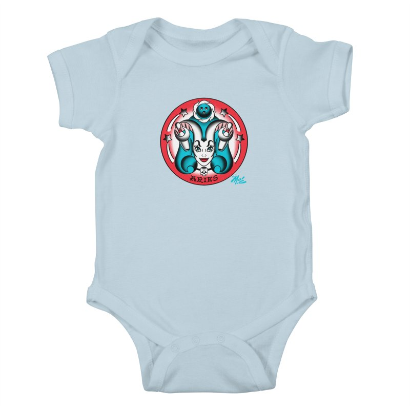 ARIES! Kids Baby Bodysuit by Mitch O'Connell