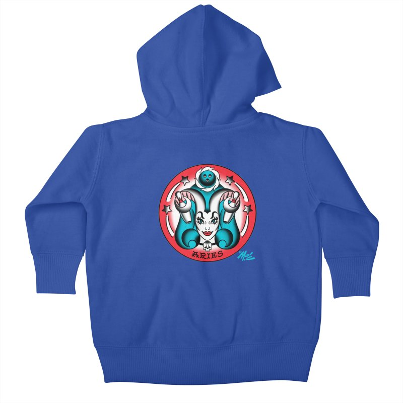 ARIES! Kids Baby Zip-Up Hoody by Mitch O'Connell