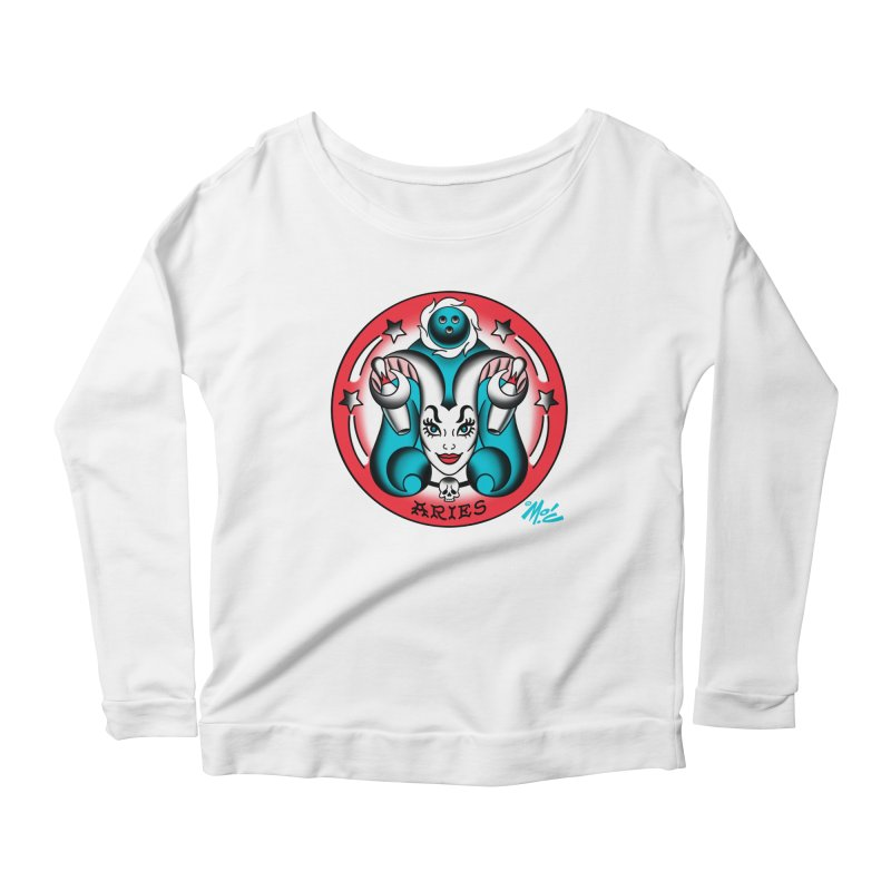 ARIES! Women's Longsleeve Scoopneck  by Mitch O'Connell