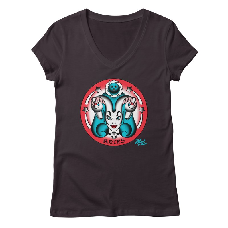ARIES! Women's V-Neck by Mitch O'Connell