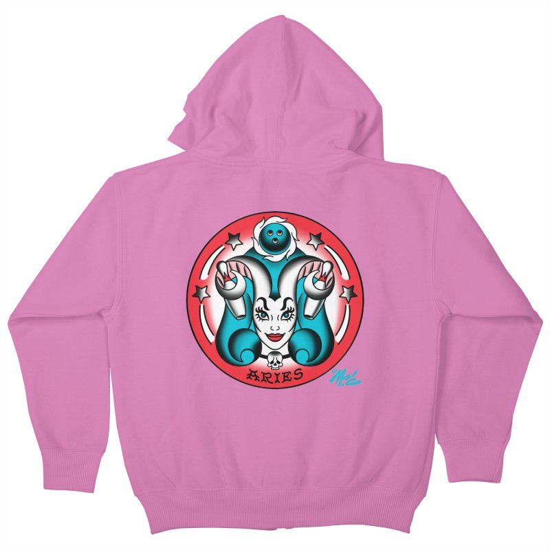 ARIES! Kids Zip-Up Hoody by Mitch O'Connell