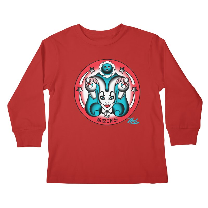 ARIES! Kids Longsleeve T-Shirt by Mitch O'Connell