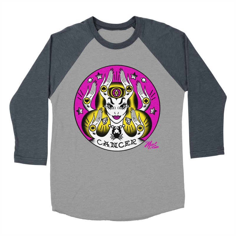 CANCER! Women's Baseball Triblend T-Shirt by Mitch O'Connell