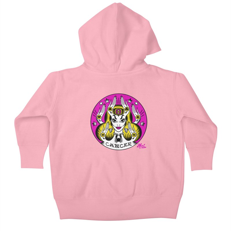 CANCER! Kids Baby Zip-Up Hoody by Mitch O'Connell
