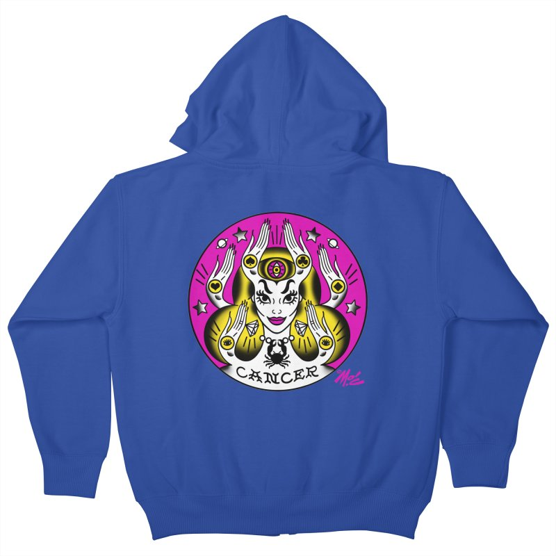 CANCER! Kids Zip-Up Hoody by Mitch O'Connell