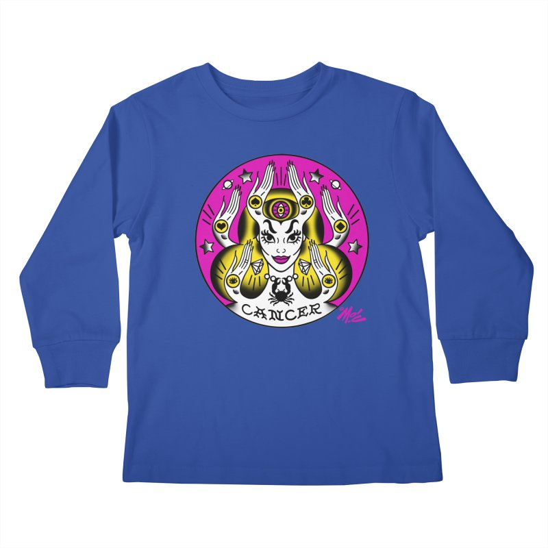 CANCER! Kids Longsleeve T-Shirt by Mitch O'Connell