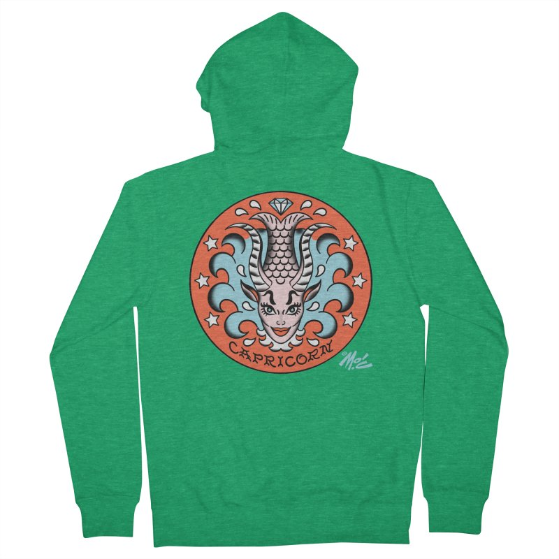 CAPRICORN! Women's Zip-Up Hoody by Mitch O'Connell