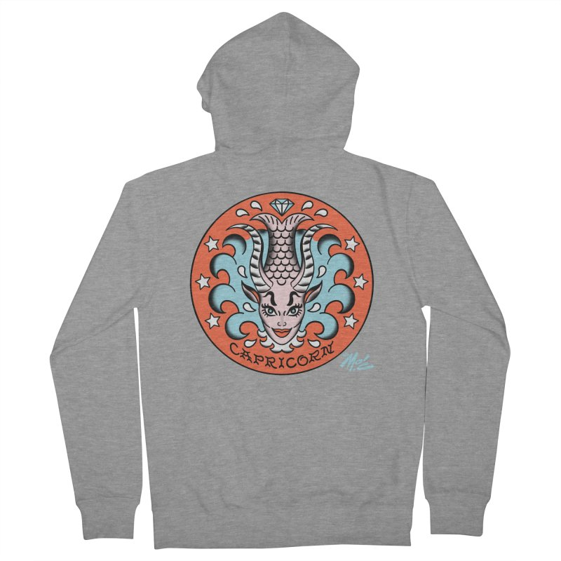 CAPRICORN! Men's Zip-Up Hoody by Mitch O'Connell
