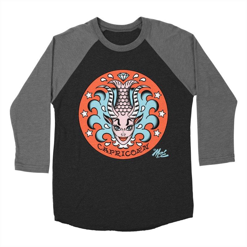 CAPRICORN! Women's Baseball Triblend T-Shirt by Mitch O'Connell