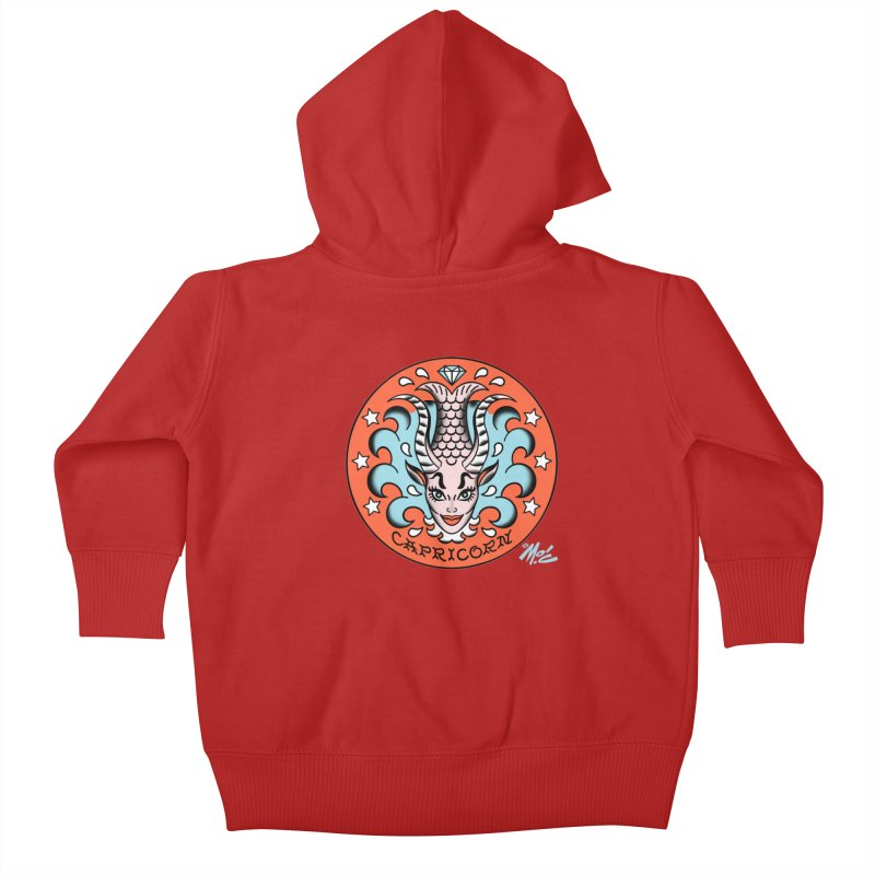 CAPRICORN! Kids Baby Zip-Up Hoody by Mitch O'Connell