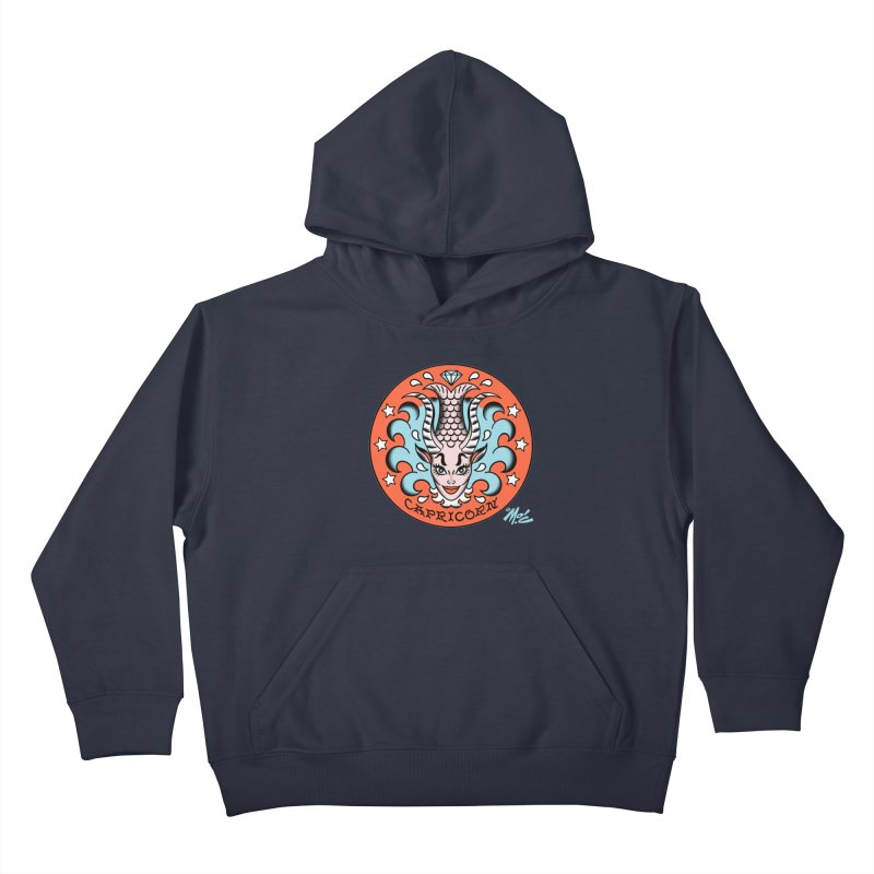 CAPRICORN! Kids Pullover Hoody by Mitch O'Connell