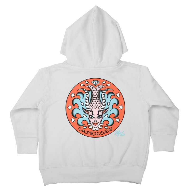 CAPRICORN! Kids Toddler Zip-Up Hoody by Mitch O'Connell