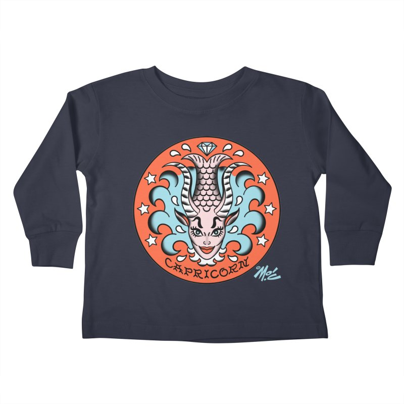 CAPRICORN! Kids Toddler Longsleeve T-Shirt by Mitch O'Connell