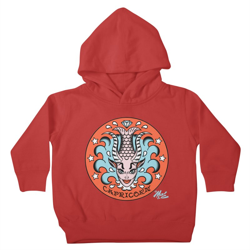 CAPRICORN! Kids Toddler Pullover Hoody by Mitch O'Connell
