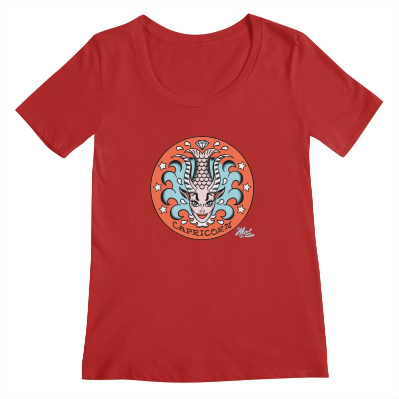 CAPRICORN! Women's Scoopneck by Mitch O'Connell