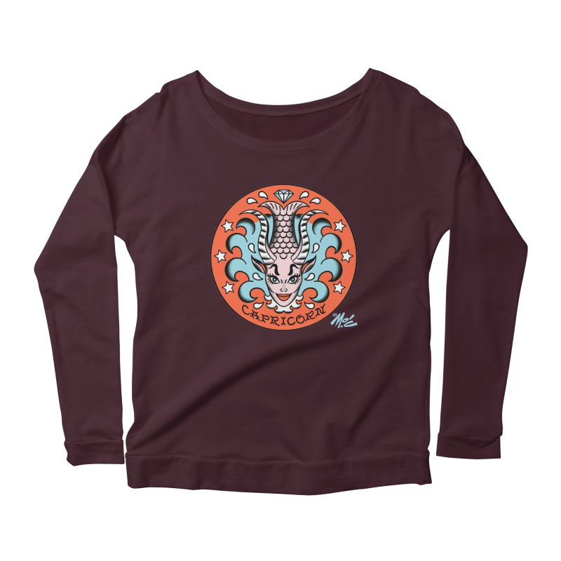 CAPRICORN! Women's Longsleeve Scoopneck  by Mitch O'Connell