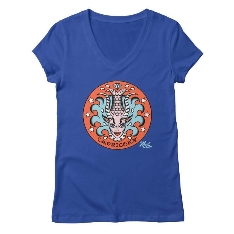 CAPRICORN! Women's V-Neck by Mitch O'Connell