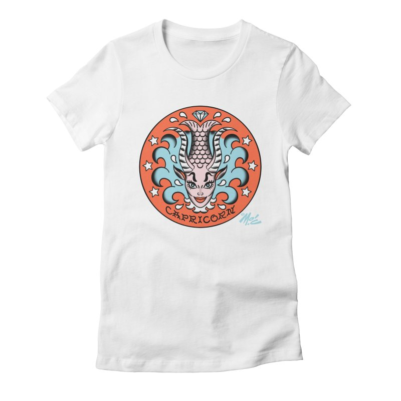 CAPRICORN! Women's Fitted T-Shirt by Mitch O'Connell