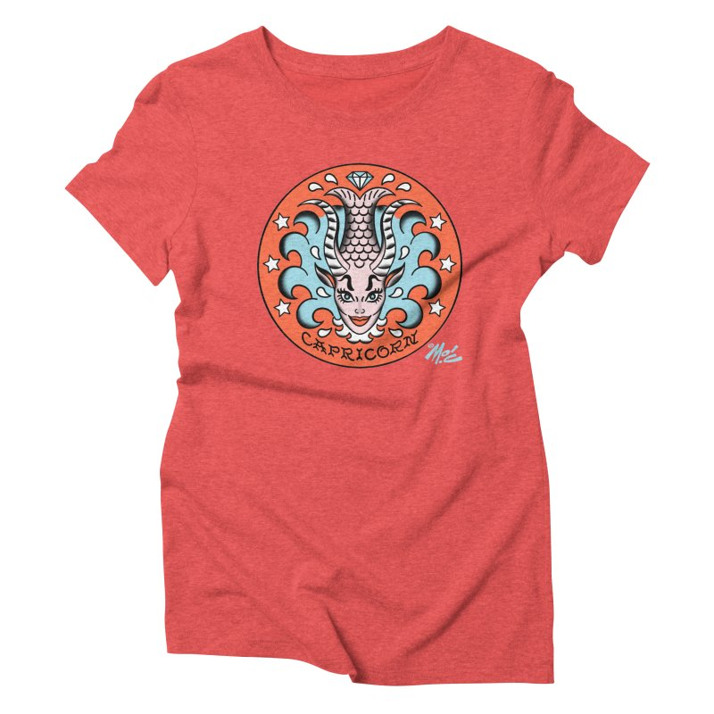 CAPRICORN! Women's Triblend T-shirt by Mitch O'Connell