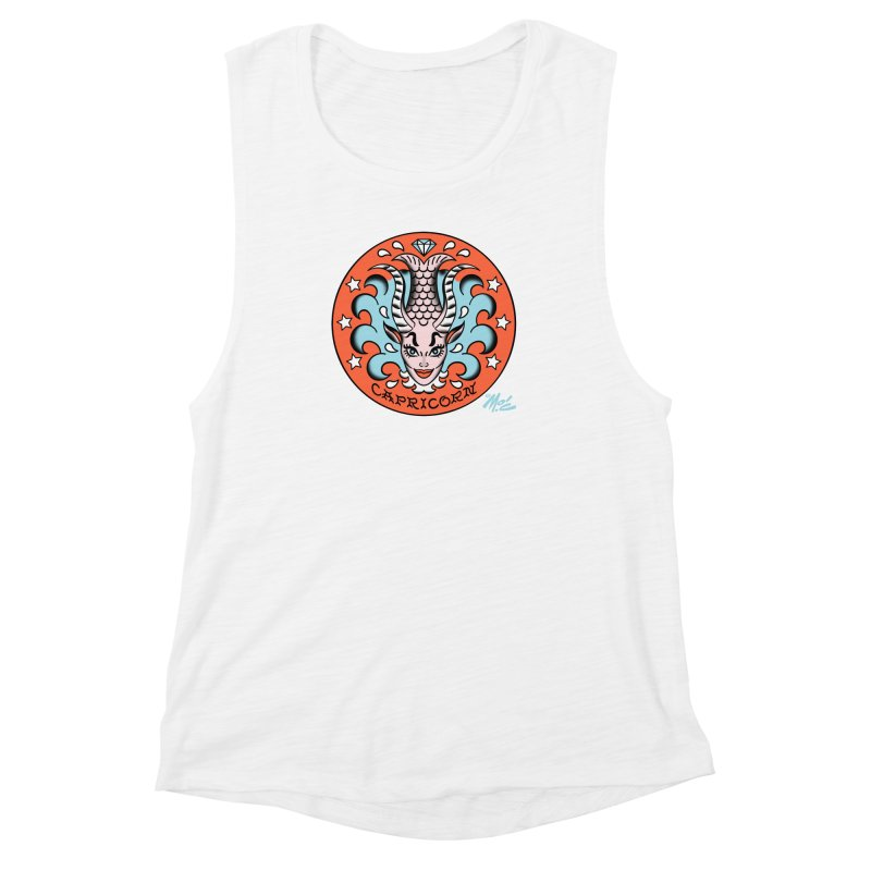 CAPRICORN! Women's Muscle Tank by Mitch O'Connell