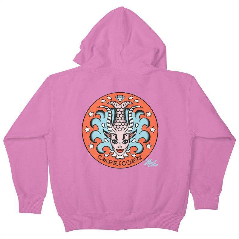 CAPRICORN! Kids Zip-Up Hoody by Mitch O'Connell