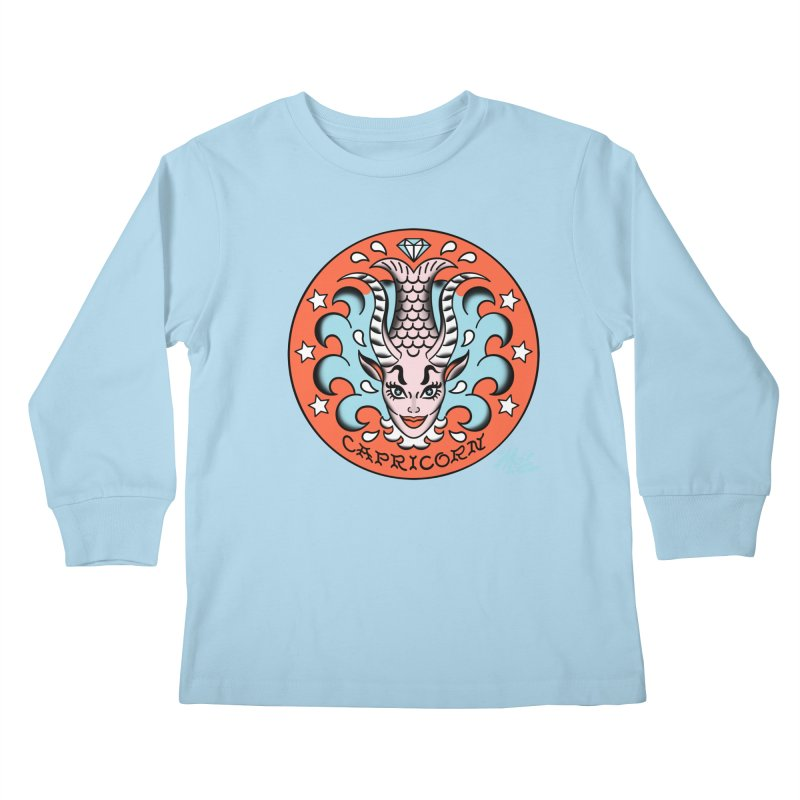 CAPRICORN! Kids Longsleeve T-Shirt by Mitch O'Connell