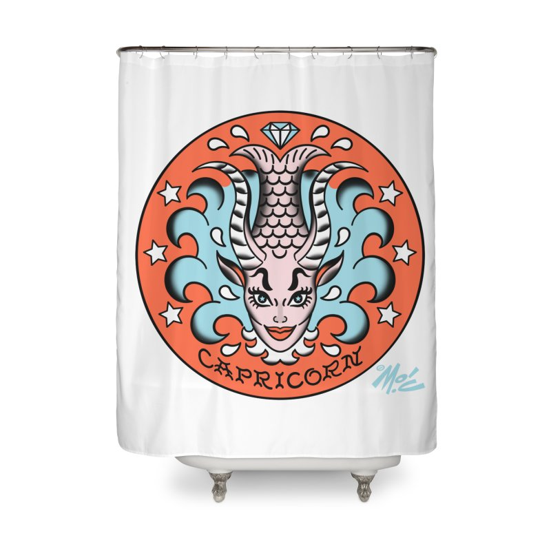 CAPRICORN! Home Shower Curtain by Mitch O'Connell