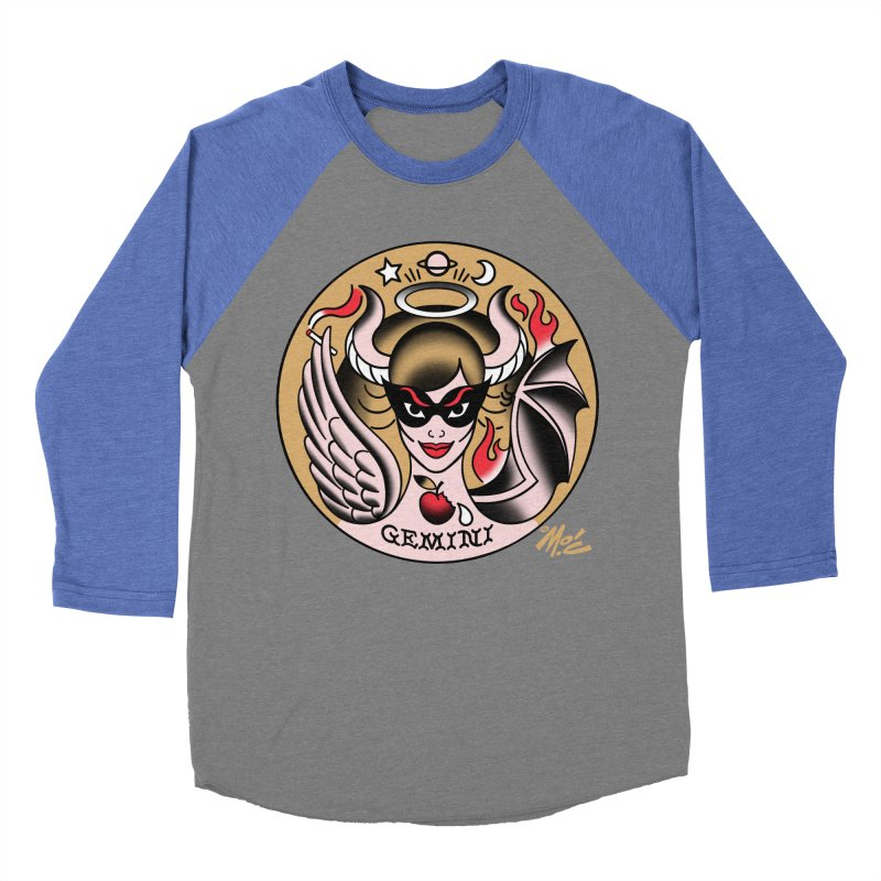 GEMINI! Women's Baseball Triblend T-Shirt by Mitch O'Connell
