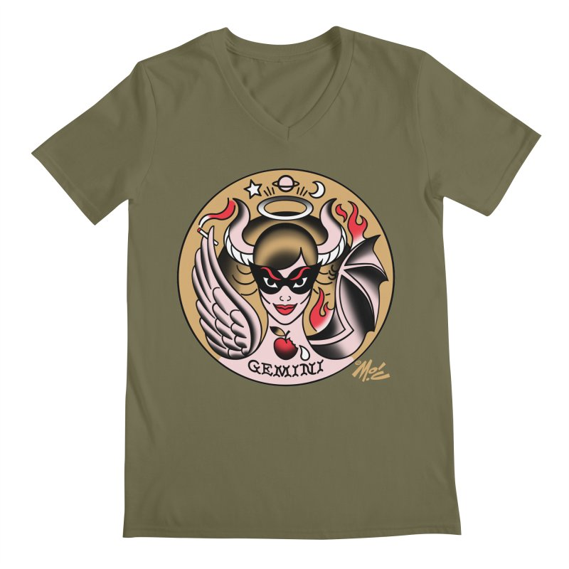 GEMINI! Men's V-Neck by Mitch O'Connell
