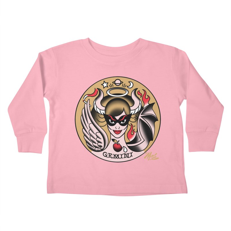GEMINI! Kids Toddler Longsleeve T-Shirt by Mitch O'Connell