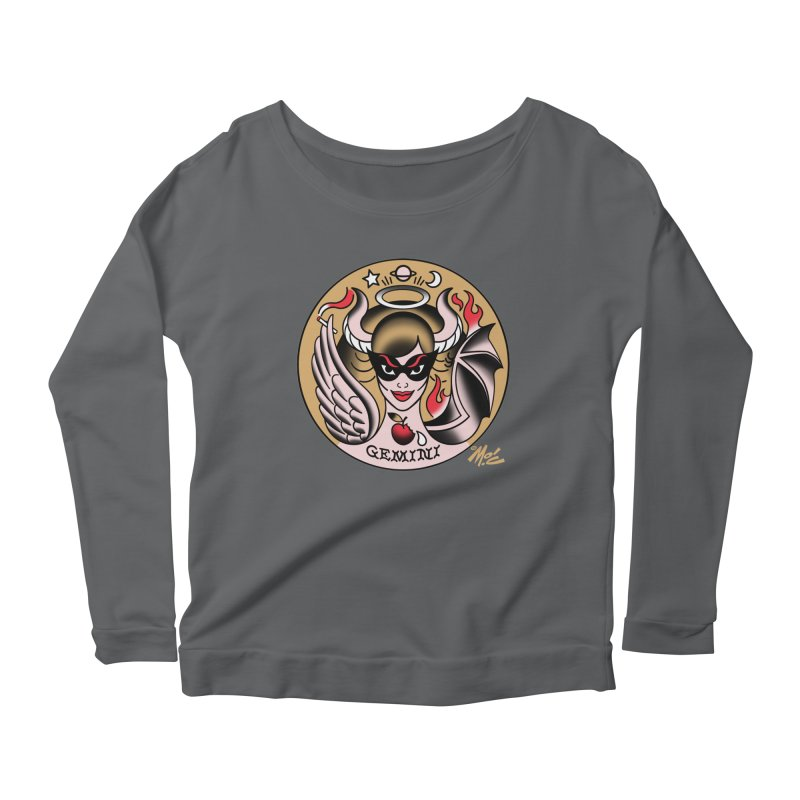 GEMINI! Women's Longsleeve Scoopneck  by Mitch O'Connell