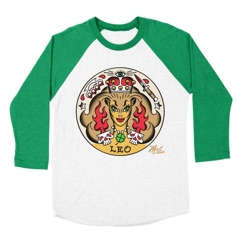 LEO! Women's Baseball Triblend T-Shirt by Mitch O'Connell