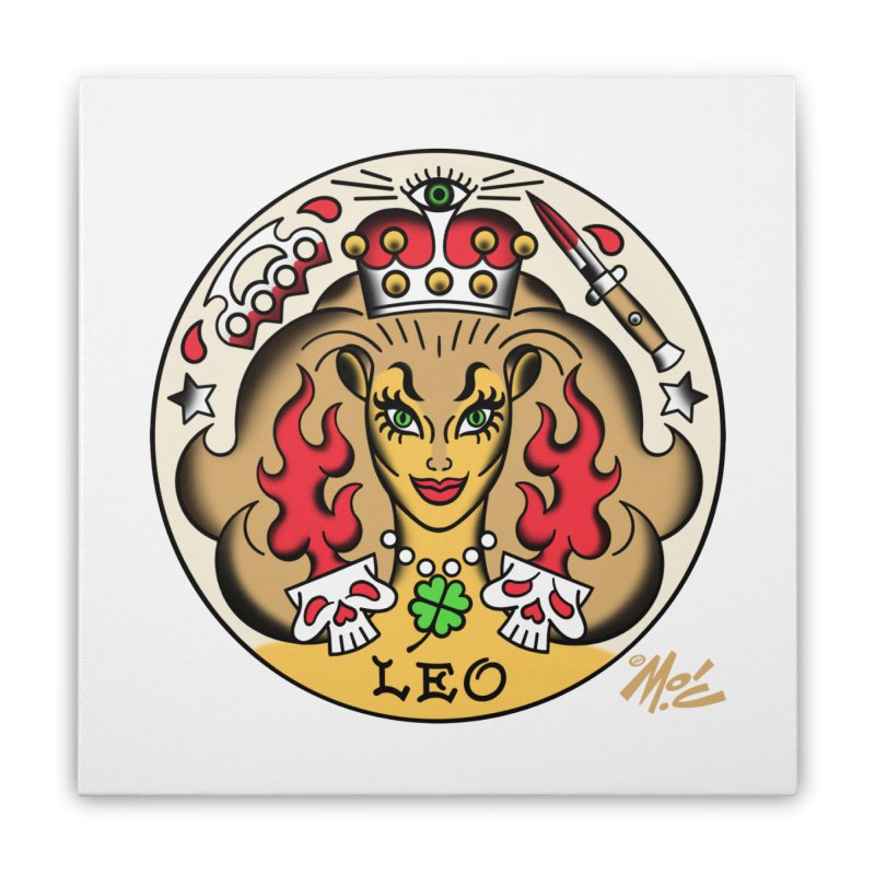 LEO! Home Stretched Canvas by Mitch O'Connell