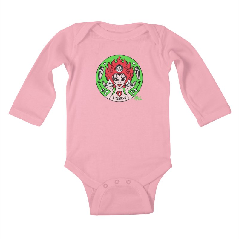 LIBRA! Kids Baby Longsleeve Bodysuit by Mitch O'Connell