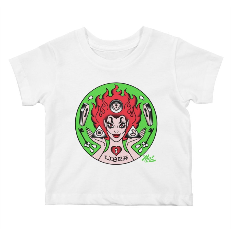 LIBRA! Kids Baby T-Shirt by Mitch O'Connell