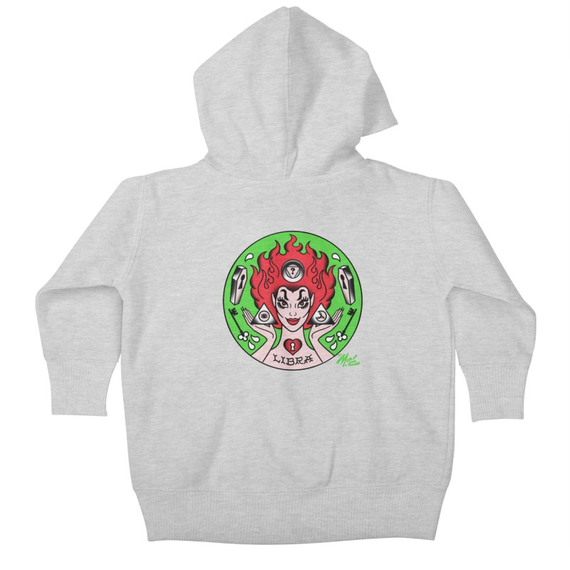 LIBRA! Kids Baby Zip-Up Hoody by Mitch O'Connell