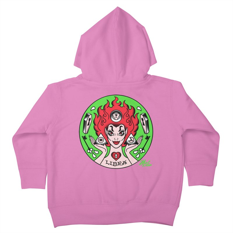 LIBRA! Kids Toddler Zip-Up Hoody by Mitch O'Connell