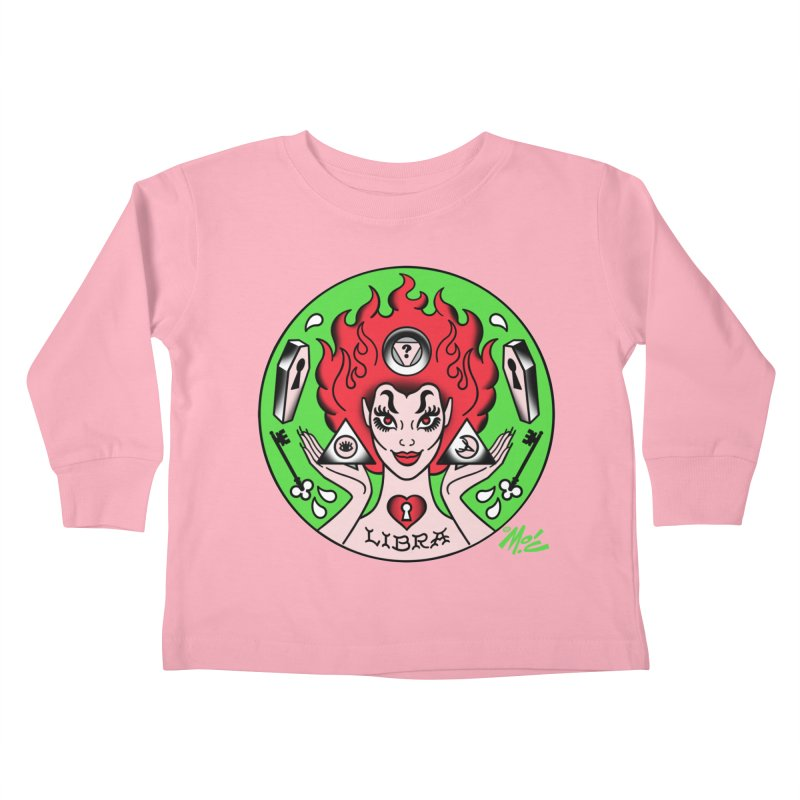 LIBRA! Kids Toddler Longsleeve T-Shirt by Mitch O'Connell