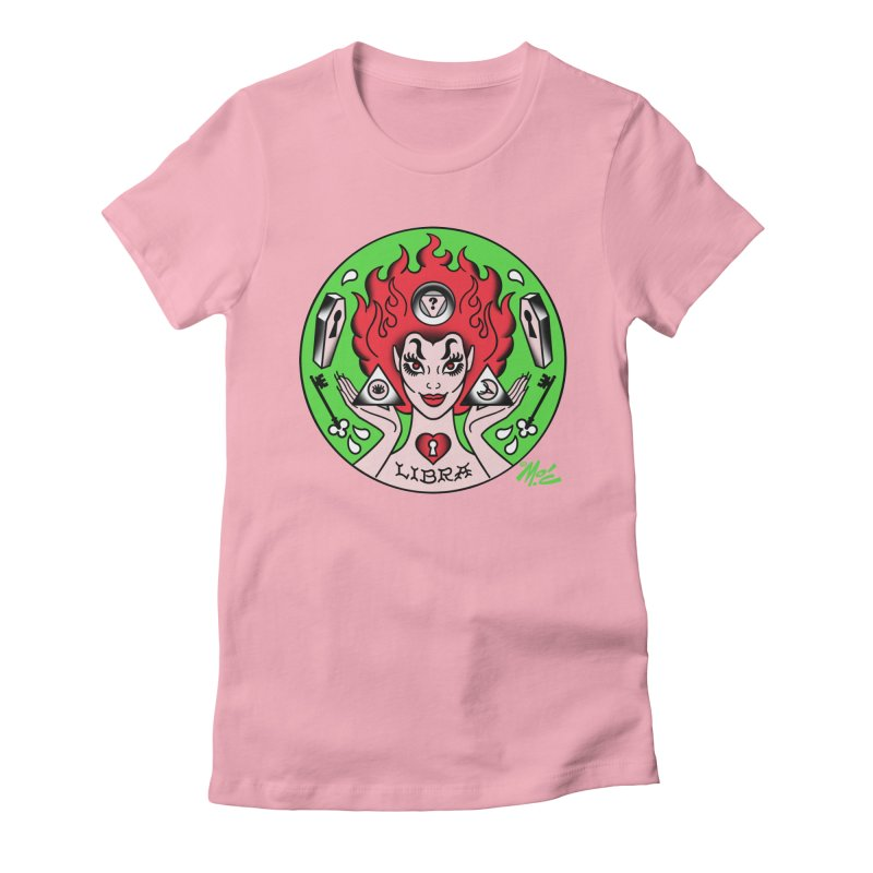 LIBRA! Women's Fitted T-Shirt by Mitch O'Connell