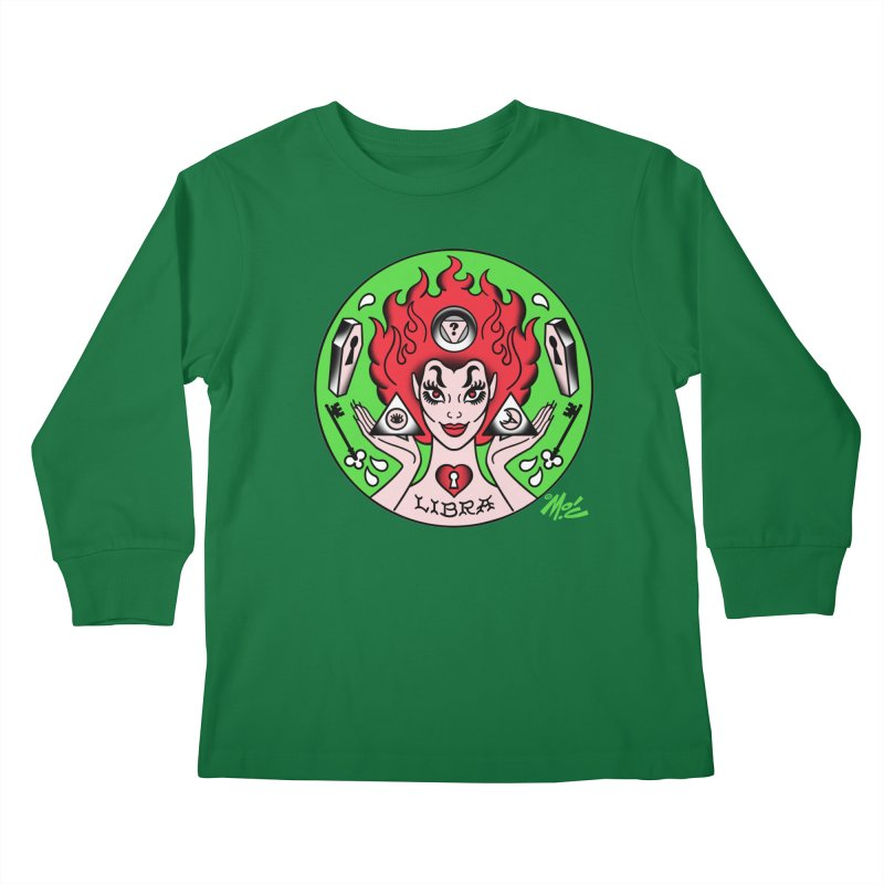 LIBRA! Kids Longsleeve T-Shirt by Mitch O'Connell