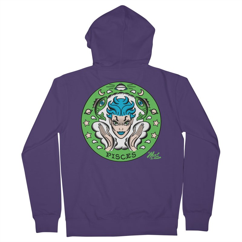 PISCES! Women's Zip-Up Hoody by Mitch O'Connell