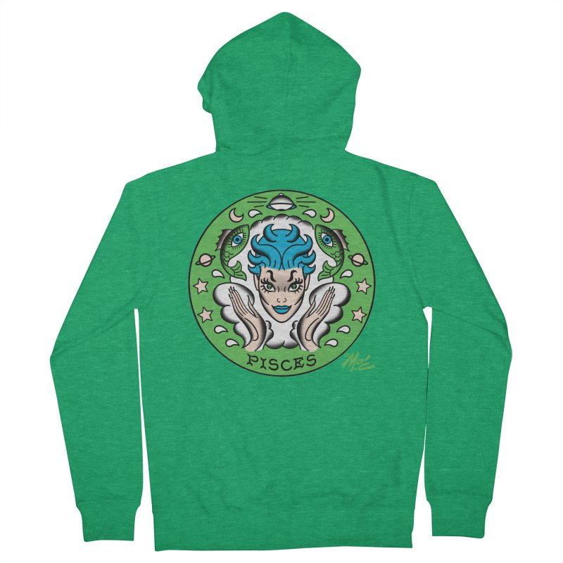 PISCES! Men's Zip-Up Hoody by Mitch O'Connell