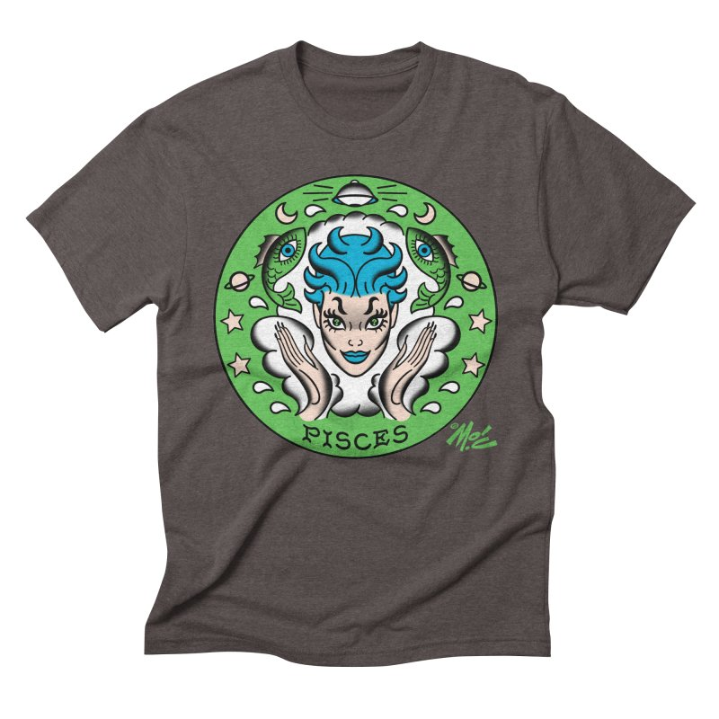 PISCES! Men's Triblend T-shirt by Mitch O'Connell